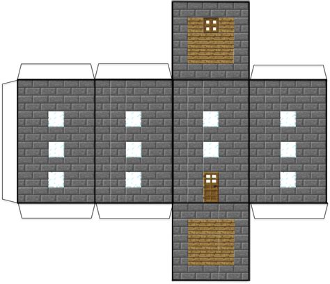 minecraft papercraft house  gaming medieval houses