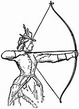 Archery Clip Clipart Archer Bow Woman Bows Coloring Pages Hunting Arrows Shooting Odyssey Arrow Draw Odysseus Drawings Cool Resource Olympics sketch template