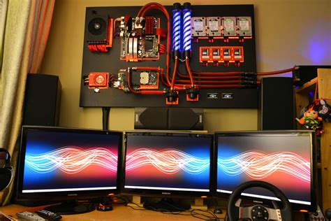 ordinateur de bureau asus i7 i may probably found the most badass looking pc setup
