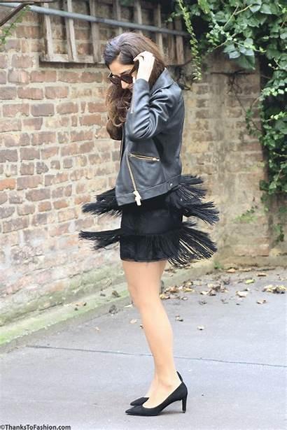 Girly Skirt Toughen Heels Wearing Sweater Celine