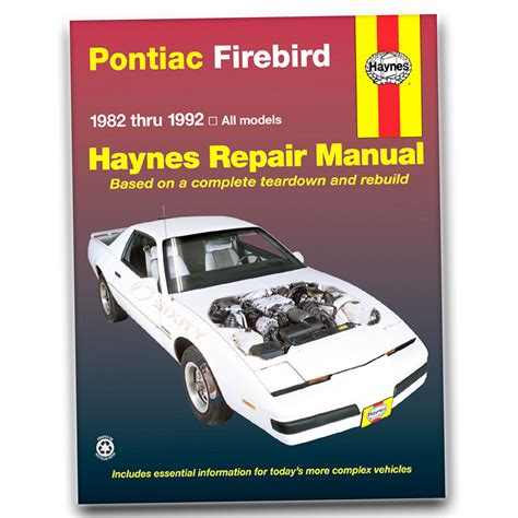 manual repair autos 1983 pontiac 6000 free book repair manuals haynes repair manual for 1982 1992 pontiac firebird shop service garage xm ebay