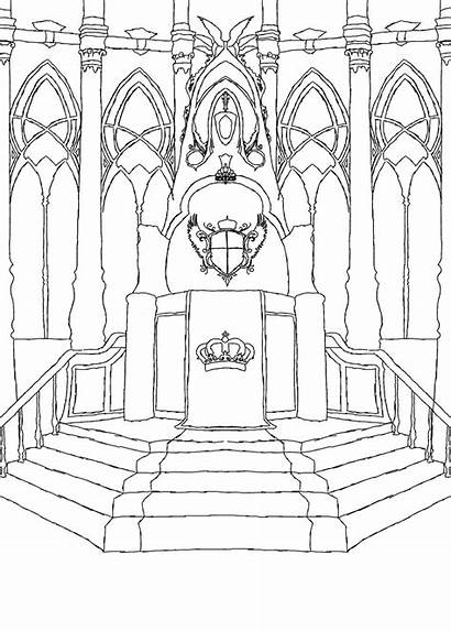 Throne Drawing God Coloring Zeet Kisaragi Drawings