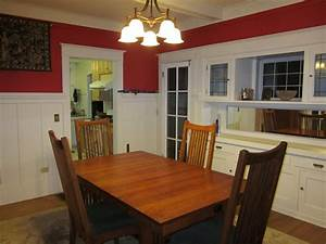 Small Dining Room Spaces Painted With Red And White Wall