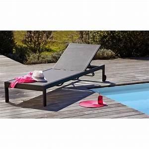 Bain De Soleil Gris : bain de soleil en aluminium et textil ne gris achat ~ Dode.kayakingforconservation.com Idées de Décoration