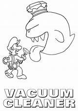 Vacuum Coloring Cleaner sketch template