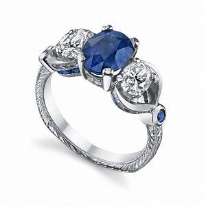 women rings blue diamond white gold women wedding rings With blue diamond wedding rings for women