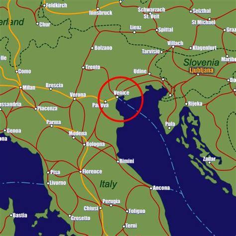 venezia italy map  map  venice italy italy