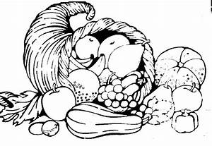 Fruit Vegetable Horse Black And White Clipart
