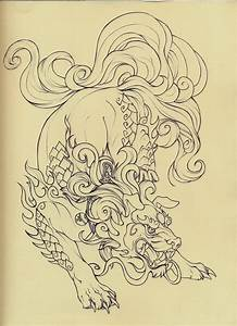 Foo Dog lineart by Quinneys on DeviantArt