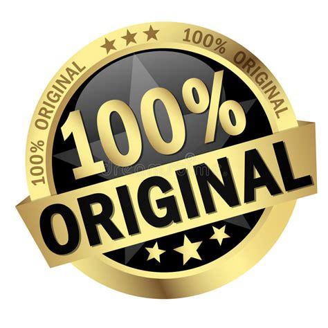 Button With Banner 100% Original Stock Vector