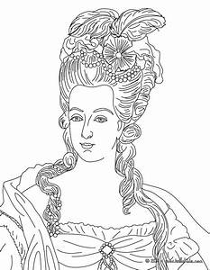 Marie Antoinette Queen Of France Coloring Pages