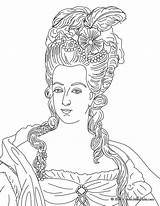 Coloring Marie Pages Antoinette Queen France Queens Kings French Hellokids Adult Maria Famous Elizabeth La Princess Books Drawing Drawings Sheets sketch template