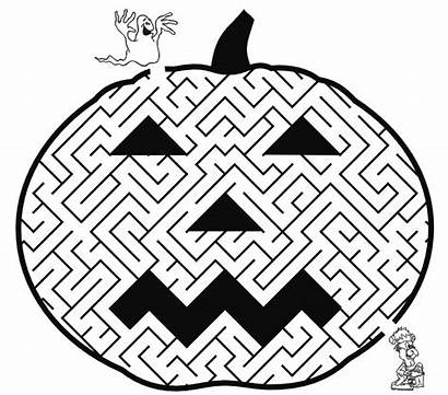 Halloween Coloring Maze Printable Crafts Pages Sheets