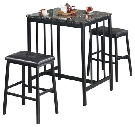 metal table and 2 chairs contemporary indoor pub and