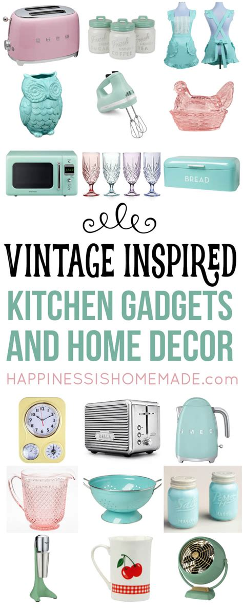 retro vintage kitchen accessories vintage inspired kitchen decor gadgets happiness is 4835