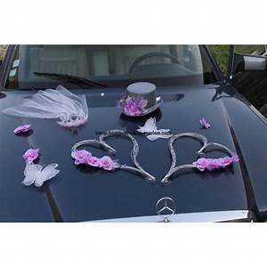 Decoration Voiture Mariage : d coration voiture mari es pour mariage th me orchid es papillons et c urs couleur gris et ~ Preciouscoupons.com Idées de Décoration