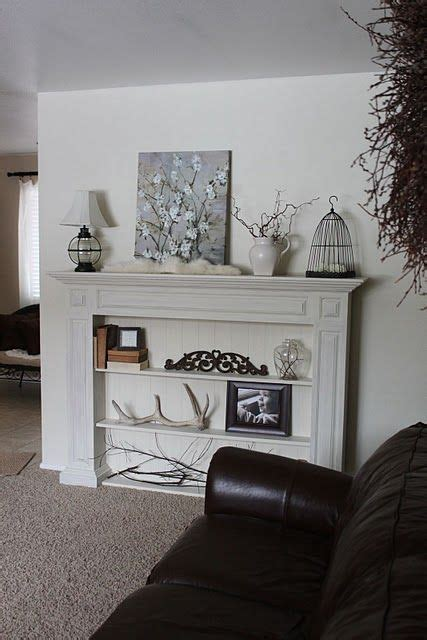 cozy faux fireplace  mantel decor ideas shelterness