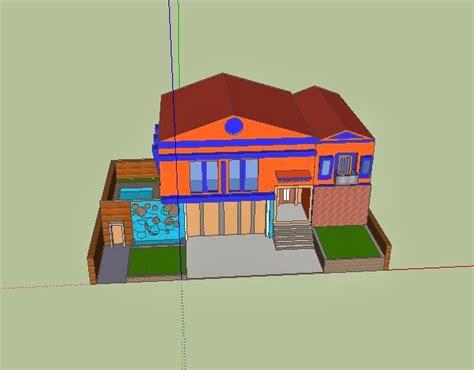 gambar desain rumah desain rumah sketchup