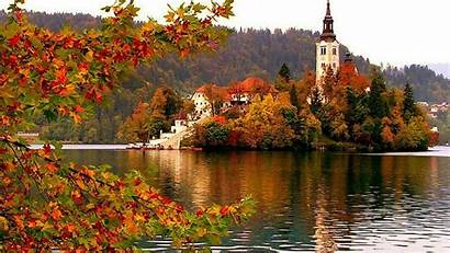 Nature Slovenia Oil Painting Bled Adriatic Country