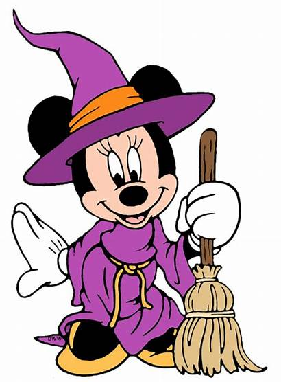 Minnie Halloween Mouse Clipart Clip Witch Disney