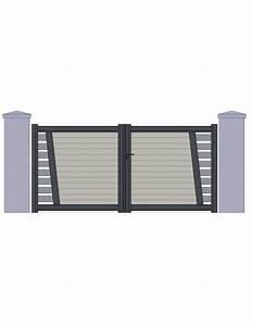 Portail Alu Battant 3m50 : portail aluminium perigueux design contemporain sur ~ Dailycaller-alerts.com Idées de Décoration