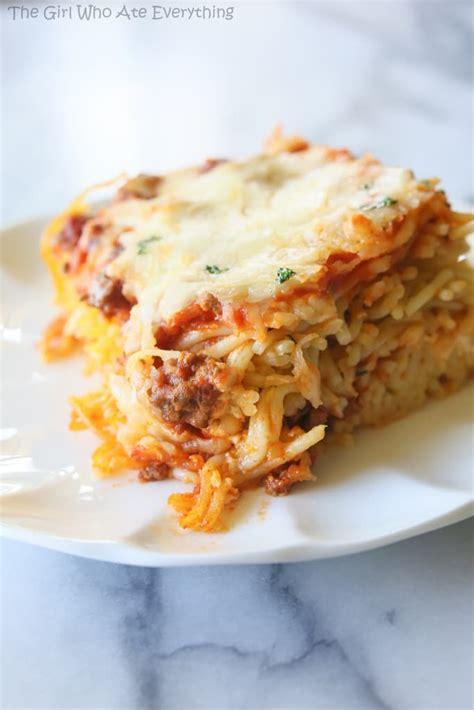 spaghetti casserole baked spaghetti recipe dishmaps