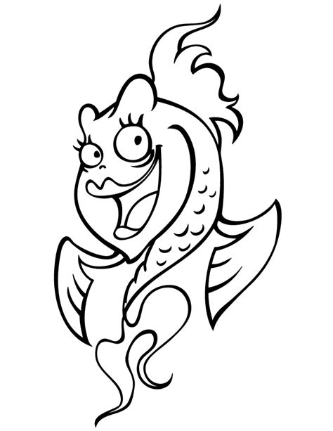 cute fish coloring pages coloring home