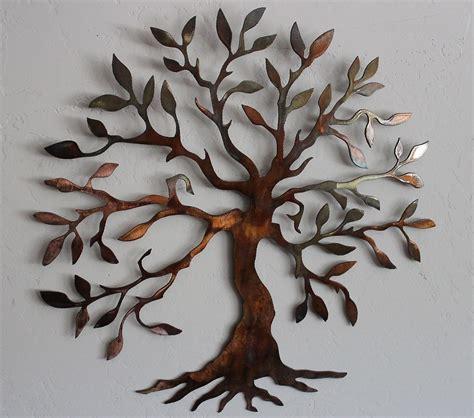 metal tree wall decor olive tree tree of metal wall