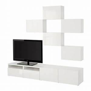 Meubles Besta Ikea : best combinaison meuble tv blanc selsviken brillant blanc glissi re tiroir fermeture ~ Nature-et-papiers.com Idées de Décoration