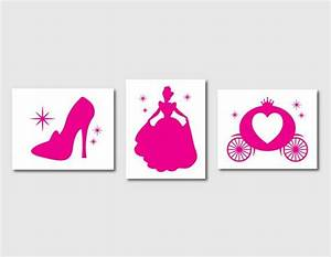 Kids Room Decor - Nursery Art Trio - Wall Art -Cinderella ...