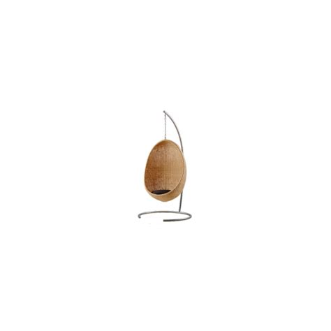 k line chaise suspendue egg chair by sika design