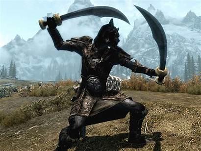 Dual Wielding Warrior Skyrim Khajiit Deviantart Build