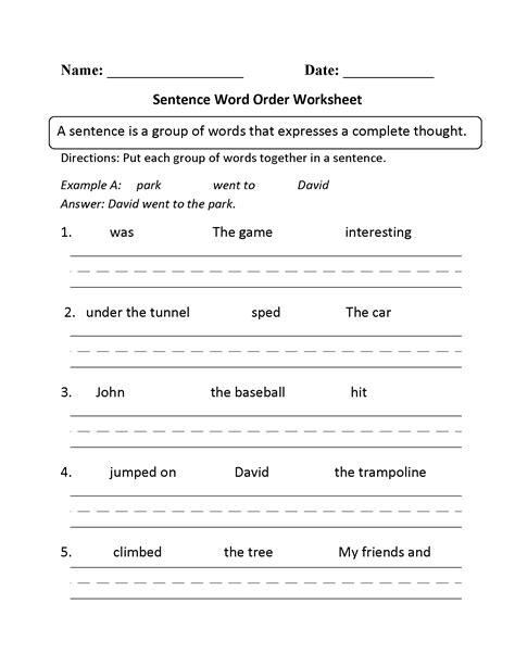 sentence writing worksheets for kindergarten worksheet mogenk paper works