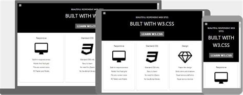 html layout templates w3 css templates