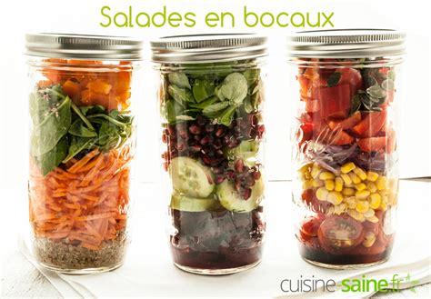 recette de cuisine simple salade en bocal ou salade jar cuisine saine sans gluten sans lait