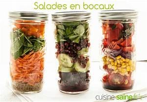 Idée Recette Saine : salade en bocal ou salade jar blog cuisine saine sans ~ Nature-et-papiers.com Idées de Décoration
