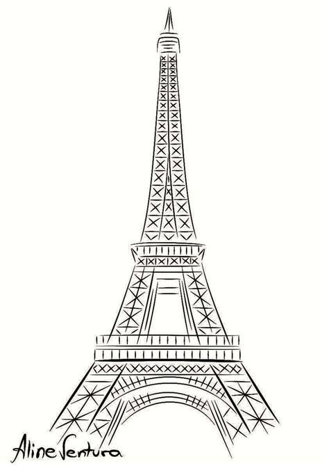 clipart da colorare disegno tour eiffel om52 187 regardsdefemmes