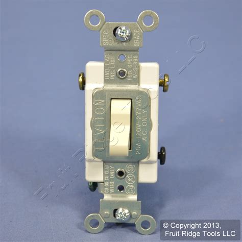 leviton almond 3 way commercial toggle wall light switch