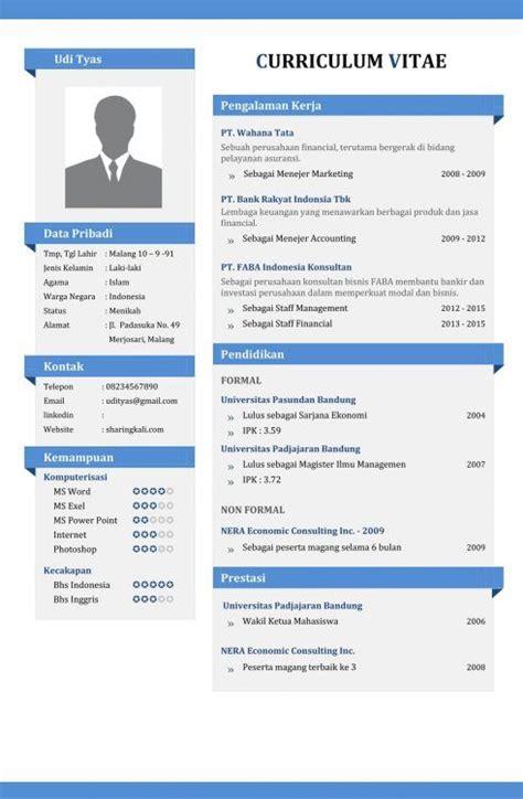 contoh cv yang menarik cv yg bagus resume