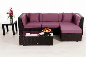 Günstige Gartenmöbel Rattan : leonardo lounge in braun rattan gartenm bel set f r terrasse garten oder balkon ~ Eleganceandgraceweddings.com Haus und Dekorationen