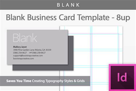 Blank Business Card Template 8up  Business Card