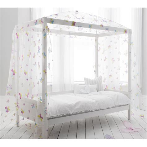 single bed with four poster butterfly canopy noa amp nani