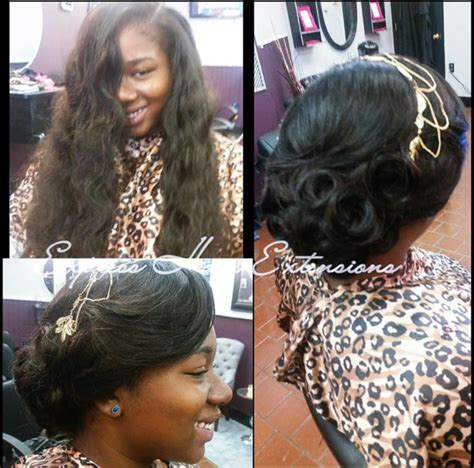 sew in with elegant updo perfect for a prom wedding or