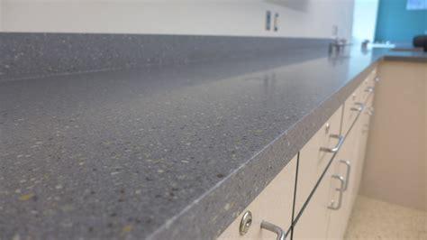Grey Corian Countertops by Virtually Seamless Corian Gray Fieldstone Countertops Were