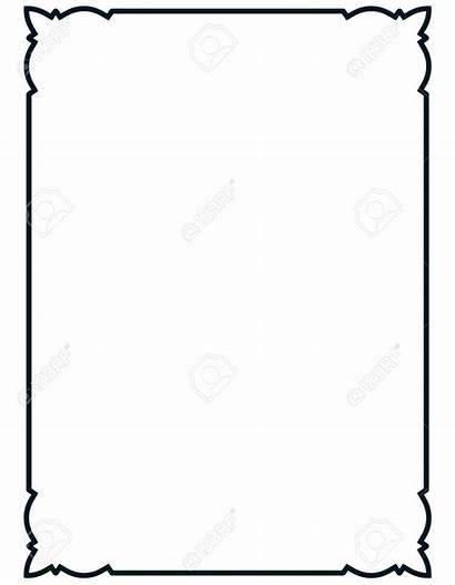 Clipart Frame Menu Elegant Simple Border Line