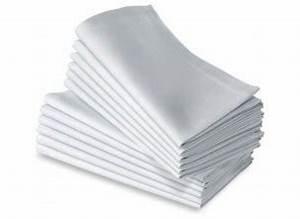 Serviette De Table Blanche : serviette blanche 100 coton pour mariage et receptions ~ Teatrodelosmanantiales.com Idées de Décoration