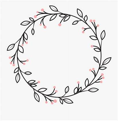 Wreath Circle Clipart Leaves Vines Decoration Berries