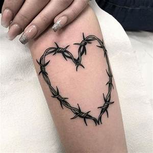 Barbed Wire Heart Tattoo