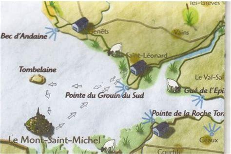Carte Touristique Baie Du Mont Michel by Traversee De La Baie Mont Michel Accueil