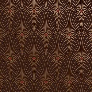Papier Peint Art Nouveau : bradbury art deco designs havana wallpaper in mahogany ~ Dailycaller-alerts.com Idées de Décoration